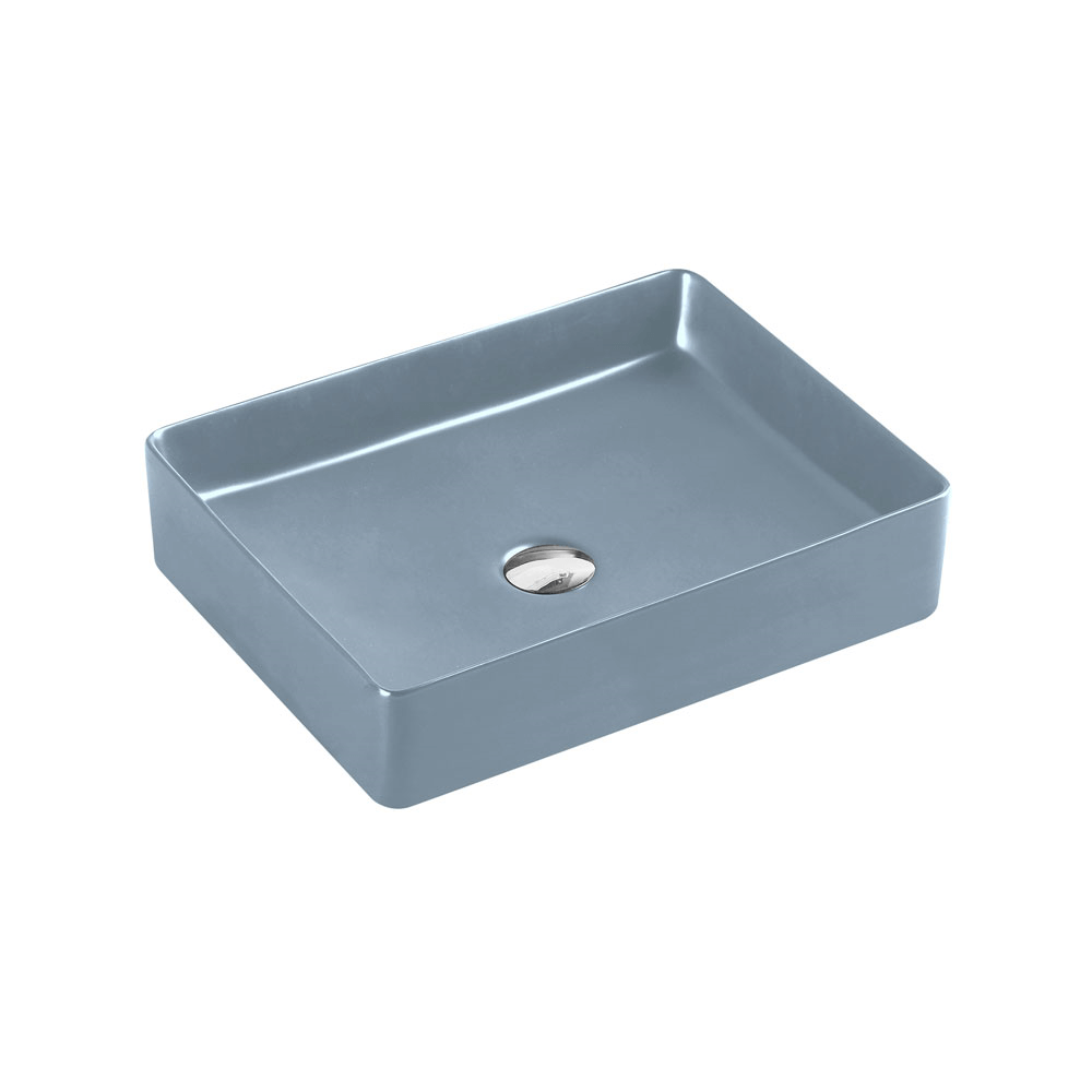 Etna Rectangular Counter Basin - Tango Grey