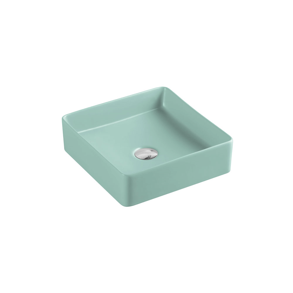 Etna Square Counter Basin - Antique Green