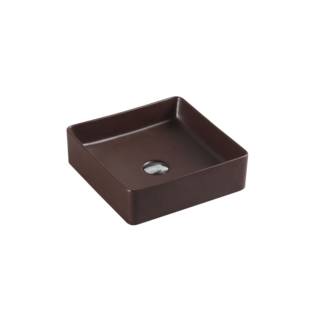 Etna Square Counter Basin - Cappucino