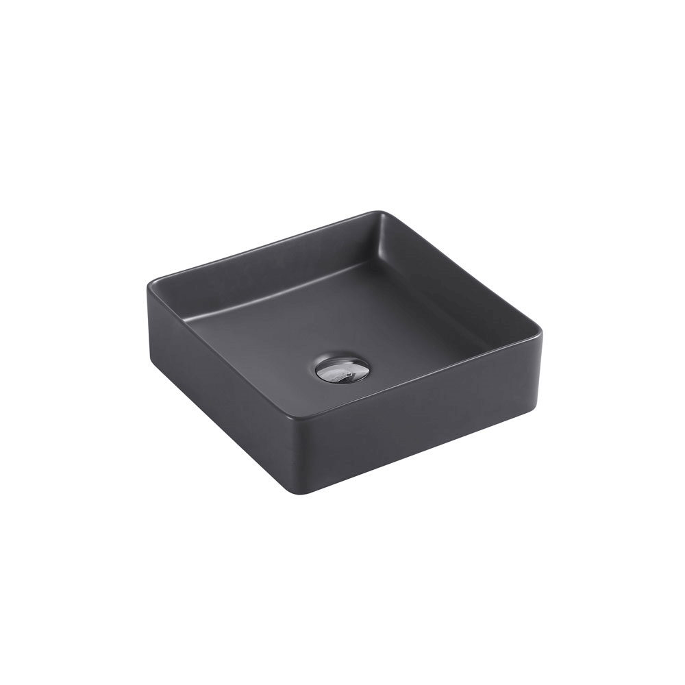 Etna Square Counter Basin - Nero Grey