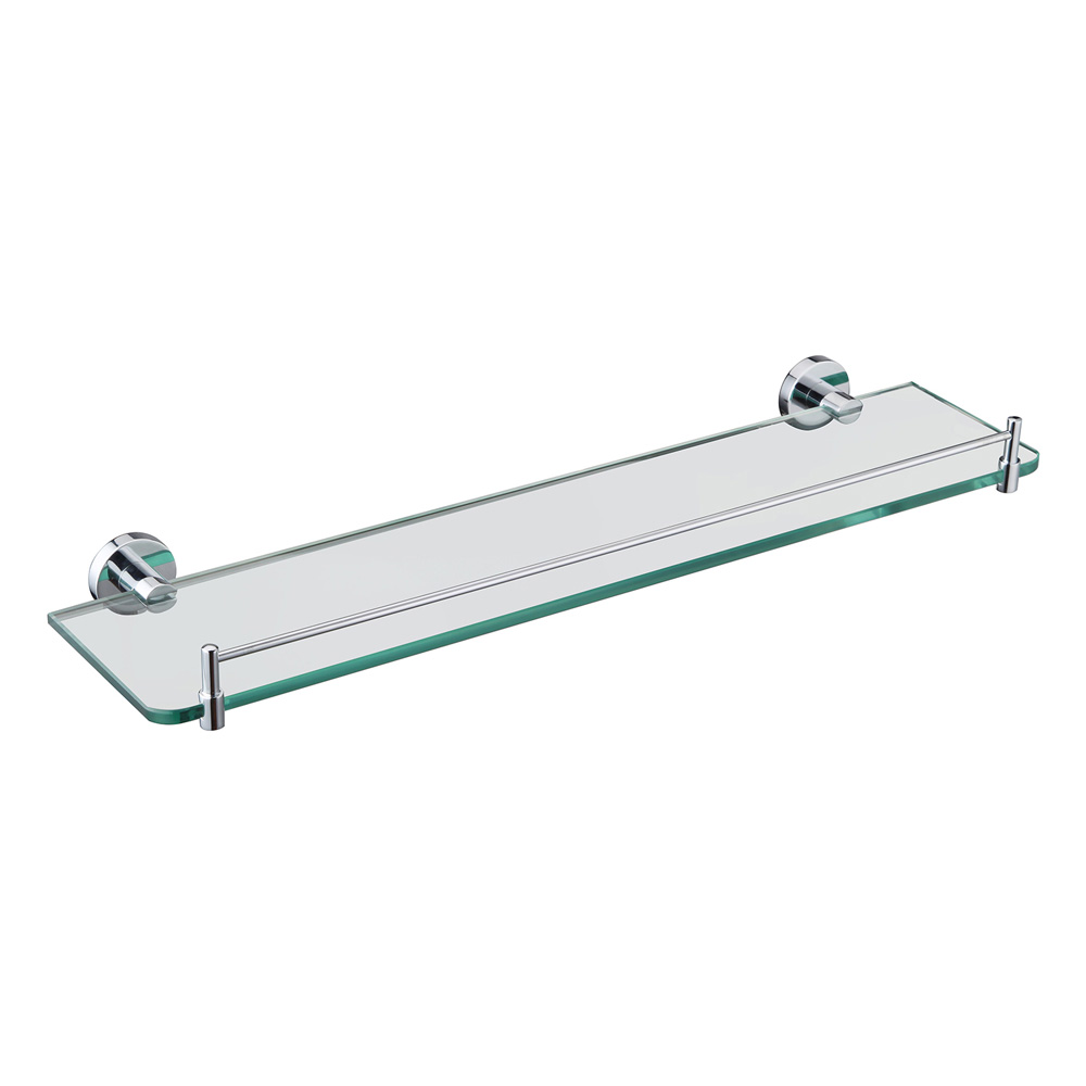 Eva Glass Shelf Chrome