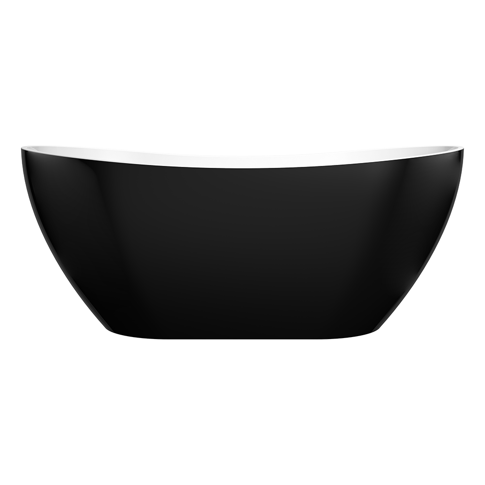 Evie 1660 Black Freestanding Bathtub