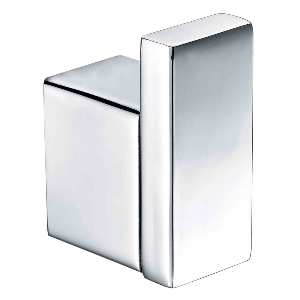 Qube Single Robe Hook Mirror Finish