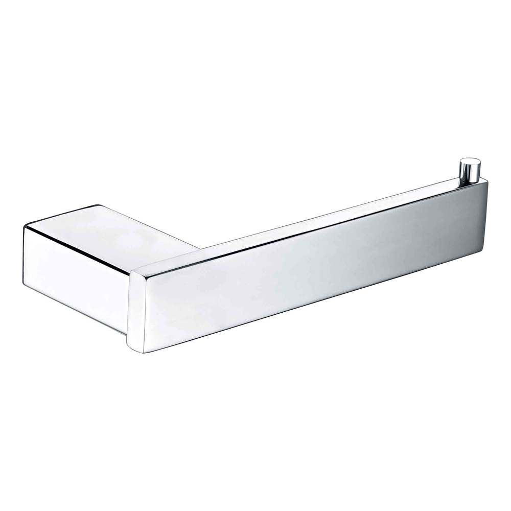 Qube Toilet Roll Holder- Chrome