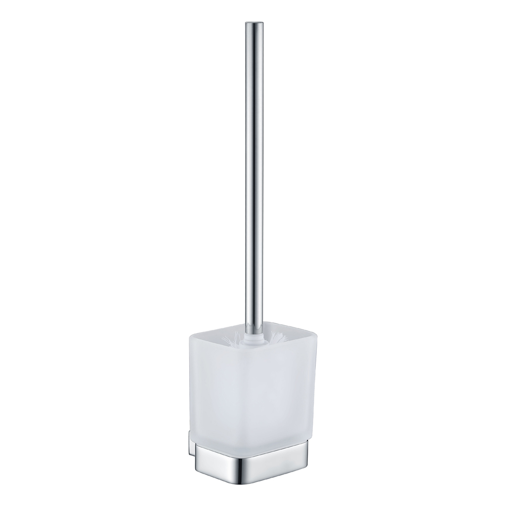 Qube Toilet Brush Holder- Chrome