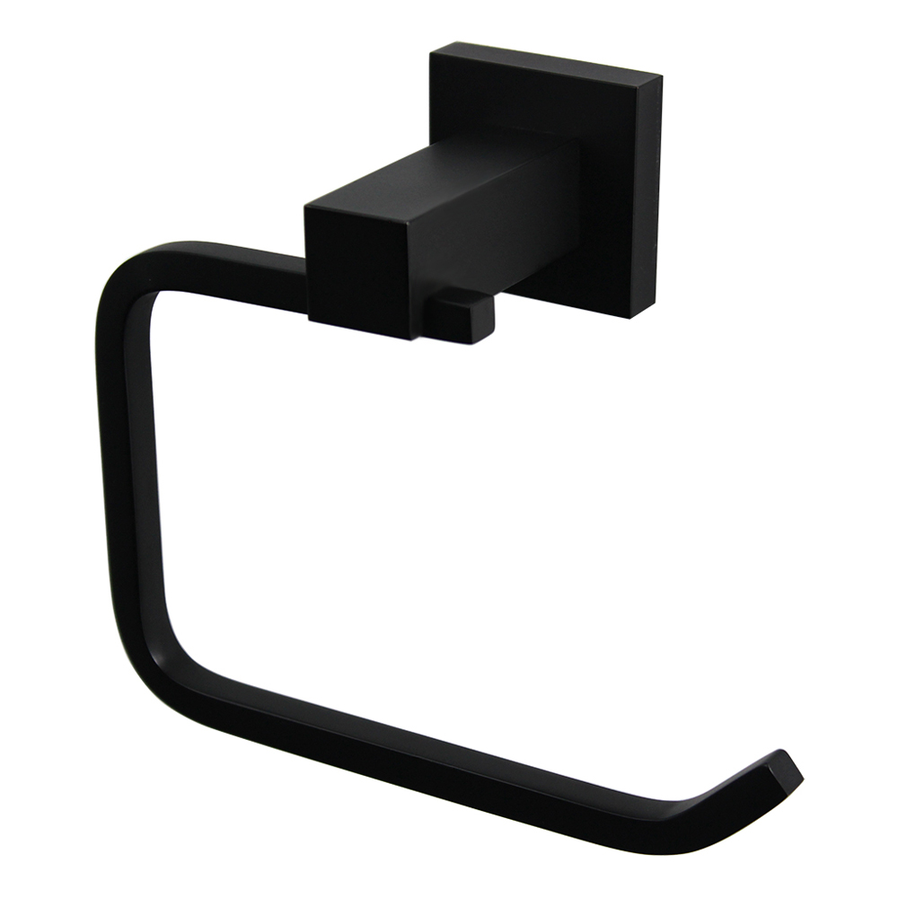 Luxe Toilet Roll Holder Matte Black