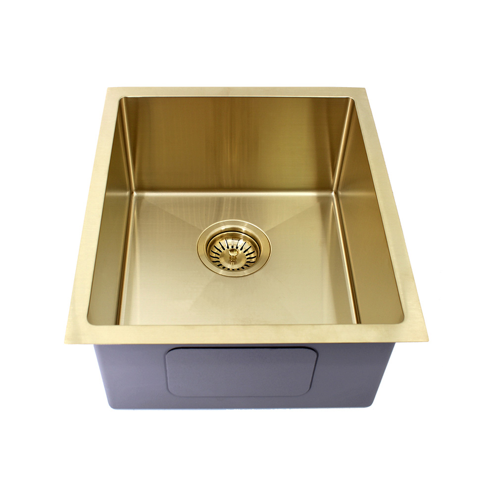 Kolora Single Bowl Sink Finish - Light Gold