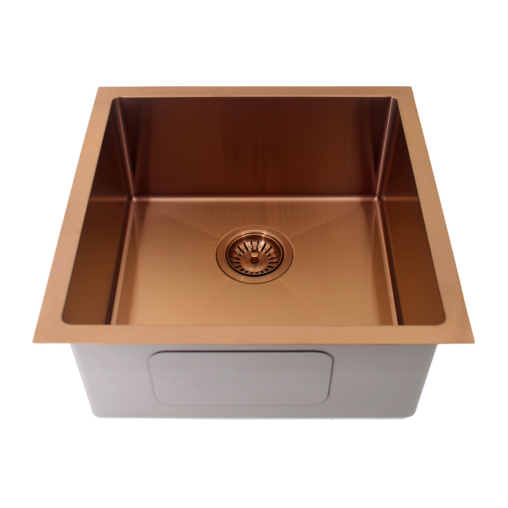 Kolora Square Single Bowl Sink Finish - Copper