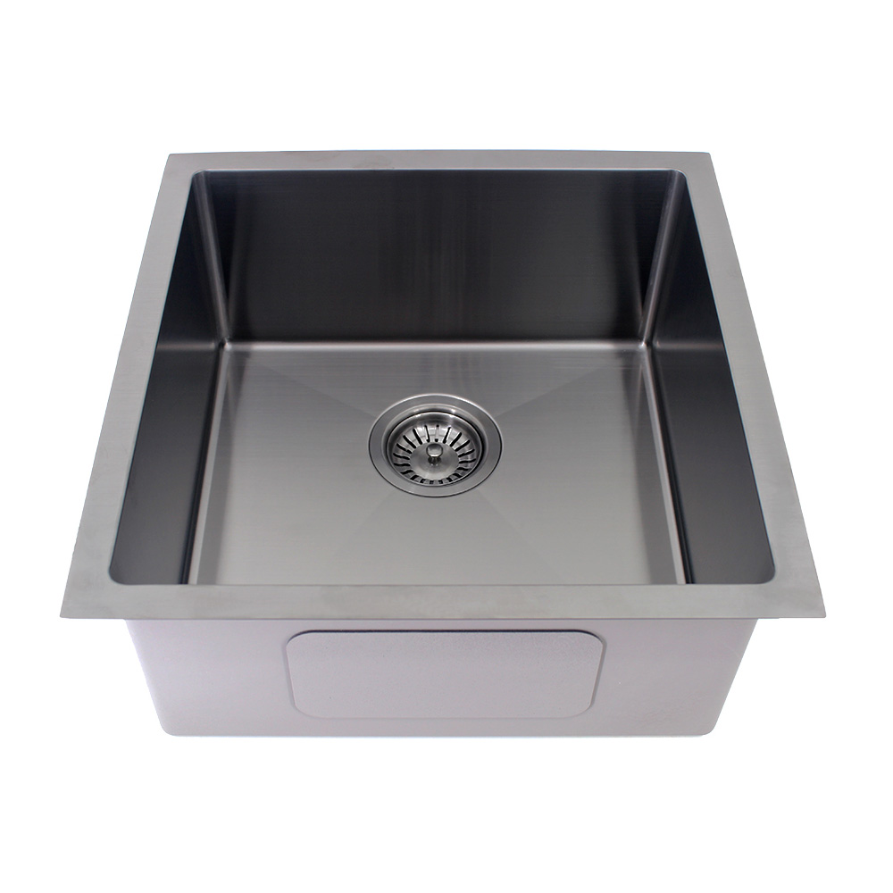 Kolora Square Single Bowl Sink Finish - Gun Metal