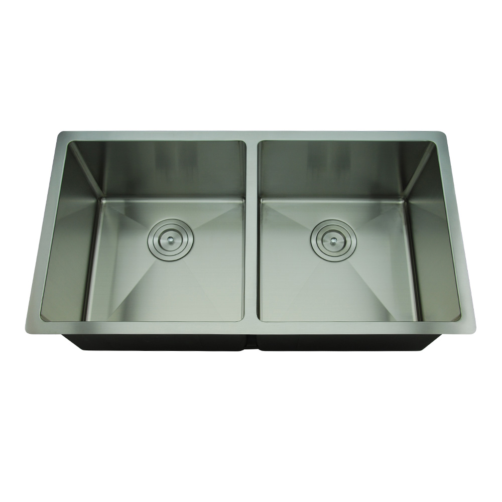 Rocco Double Bowl Sink Round Waste 760x440mm