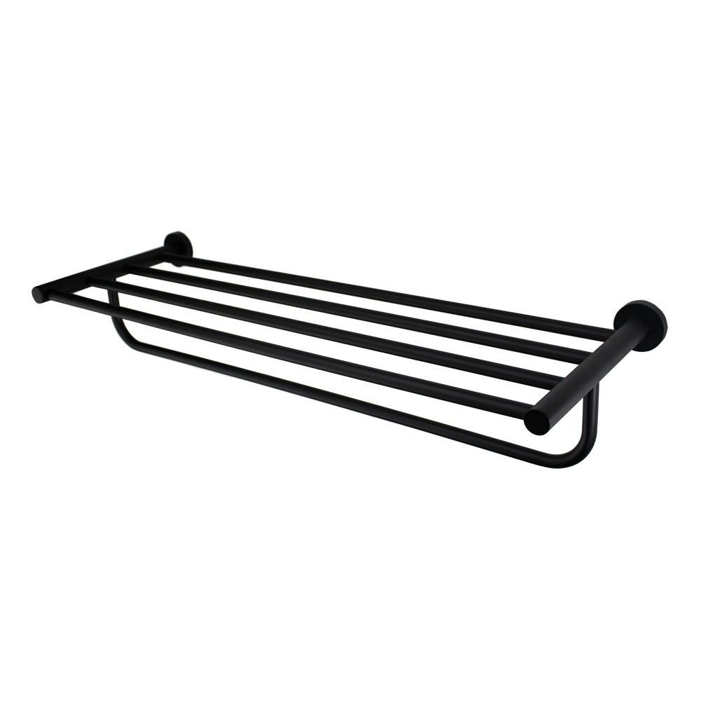 Mirage Towel Rack-Matt Black