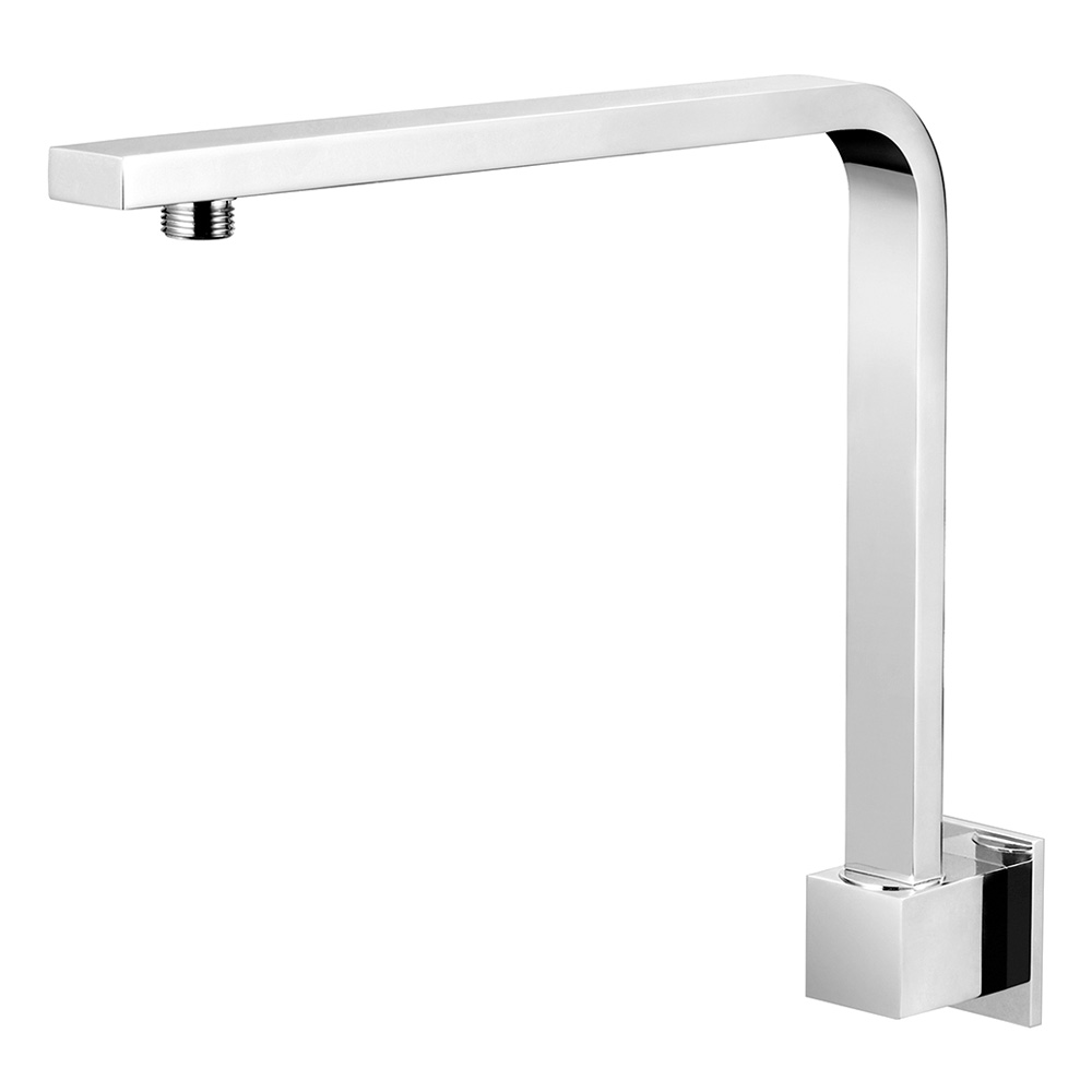 High Rise Square Shower Arm 350mm Chrome