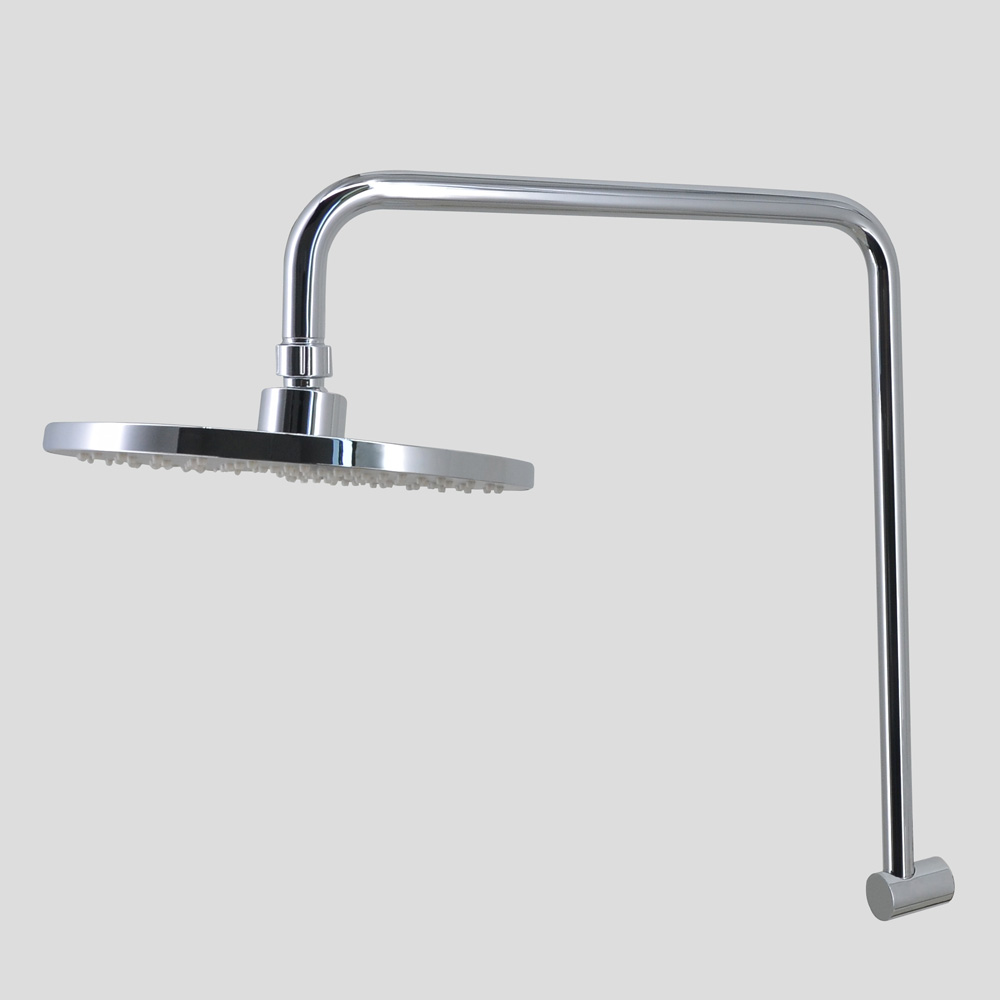 Stainless Steel Shower Head & Arm Chrome