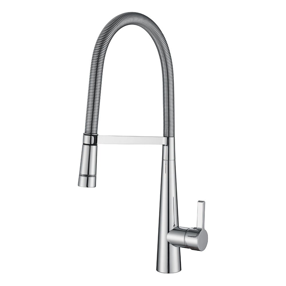 Spring LED Pull Down Kitchen Mixer-Chrome