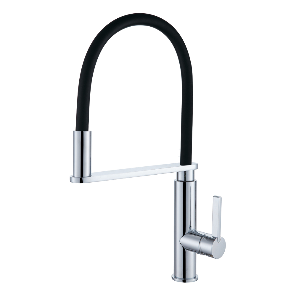 Damian Pull Down Kitchen Mixer-Chrome/Black