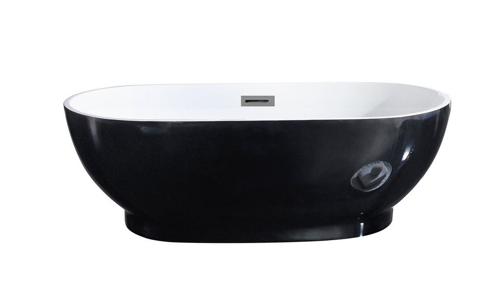 Koko 1700 Black Freestanding Bathtub