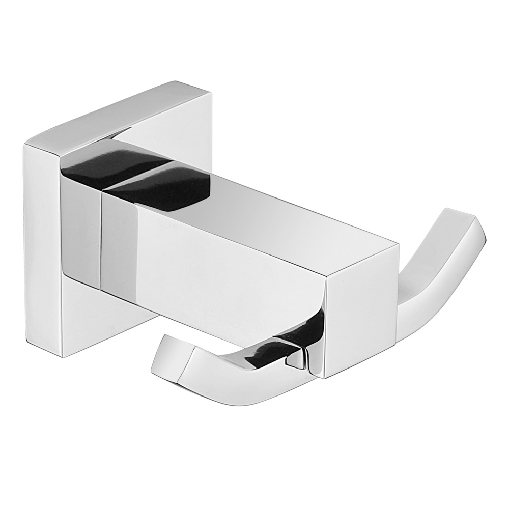 Luxe Double Robe Hook Chrome