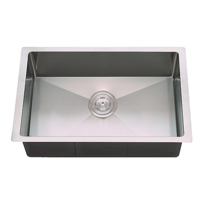 Rocco Single Bowl Sink Round Waste 650x450mm