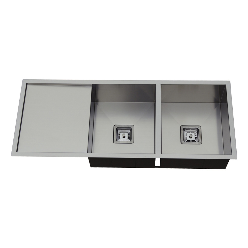 Rocco Double Bowl Sink Square Waste 1110x450mm