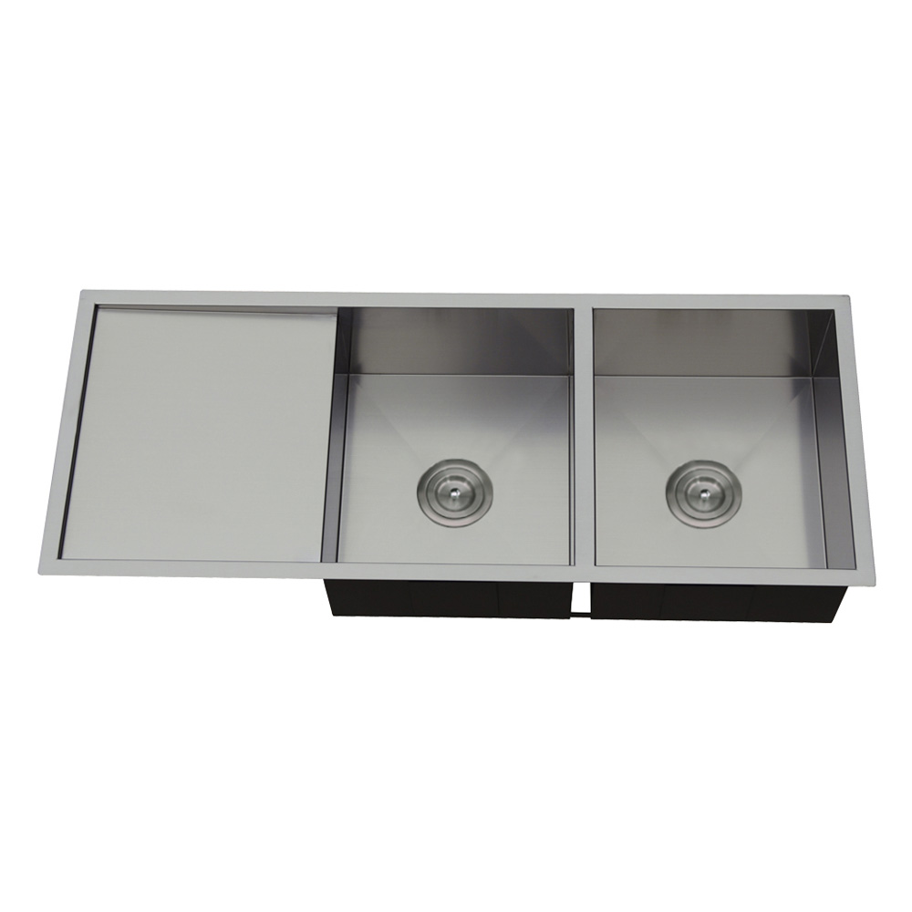 Rocco Double Bowl Sink Round Waste 1110x450mm