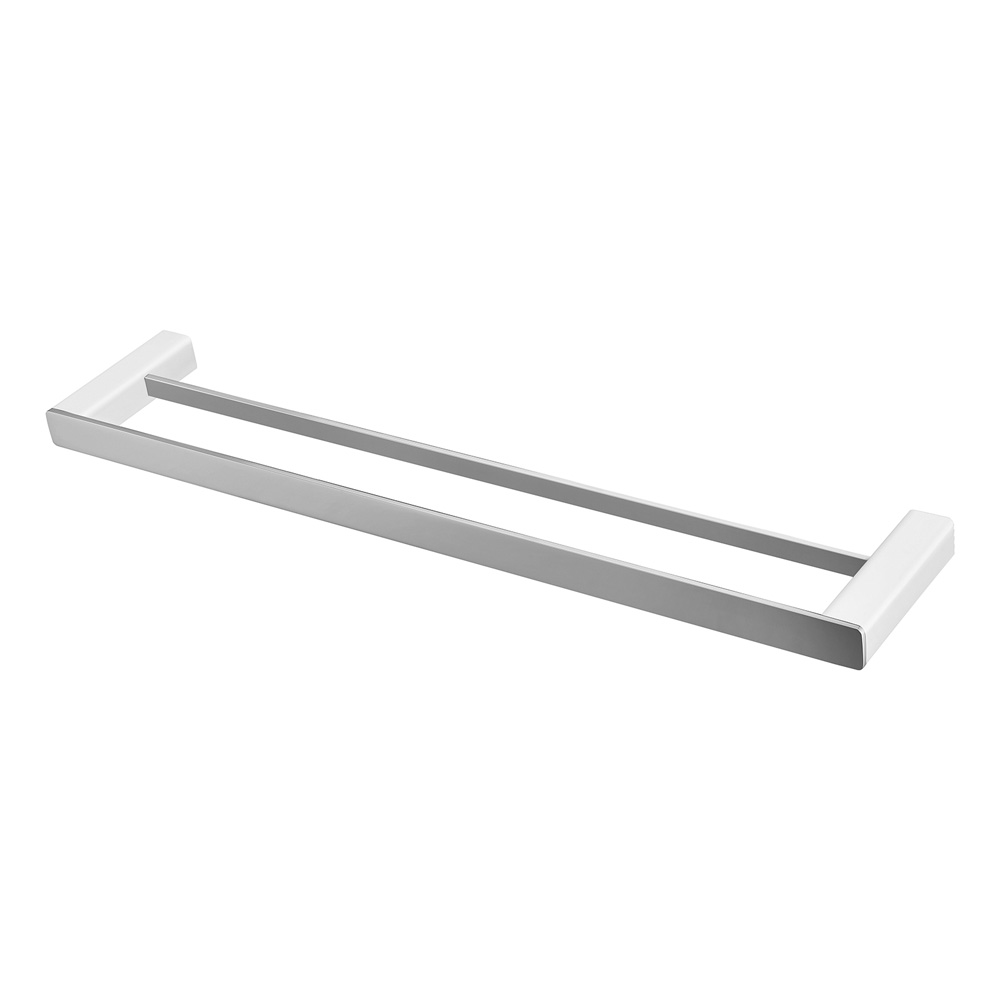 Noble Double Towel Rail 600mm Chrome