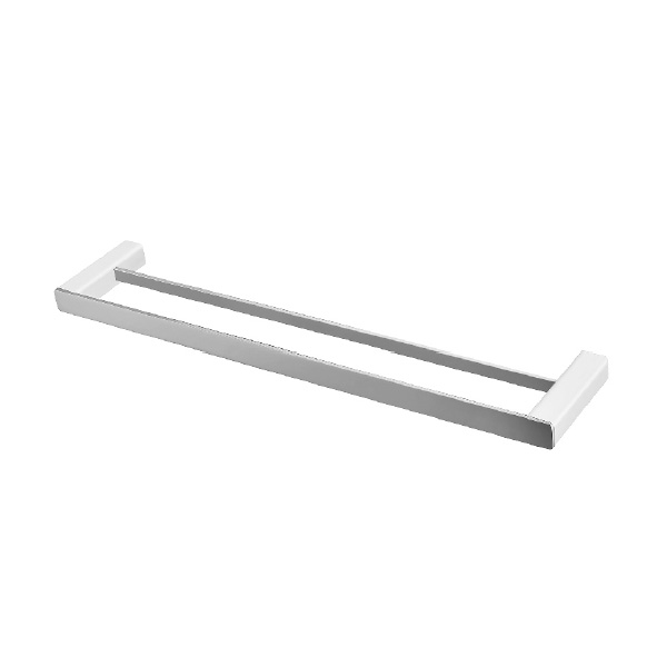 Noble Double Towel Rail 750mm Chrome