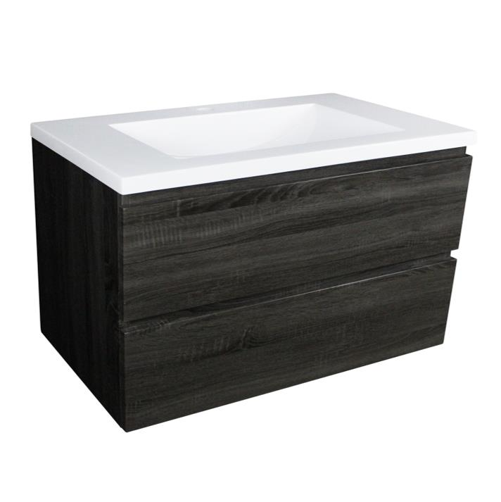 Paris 900 Wall Hung Vanity - Dark Grey