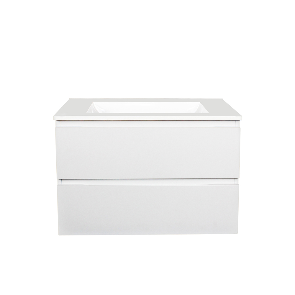 Paris 750 Wall Hung Vanity - Matt White