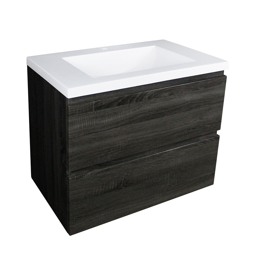 Paris 600 Wall Hung Vanity - Dark Grey