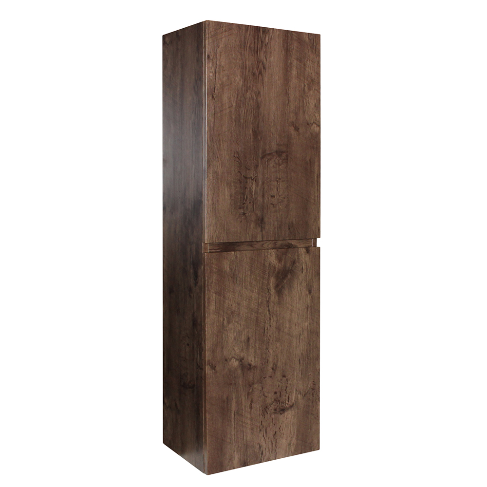 Paris Wall Hung Tall Boy - Dark Oak