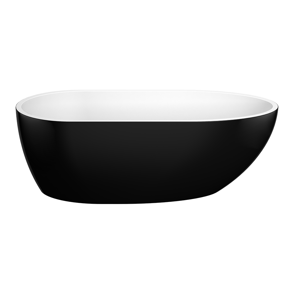 Veda 1690 Black Freestanding Bathtub