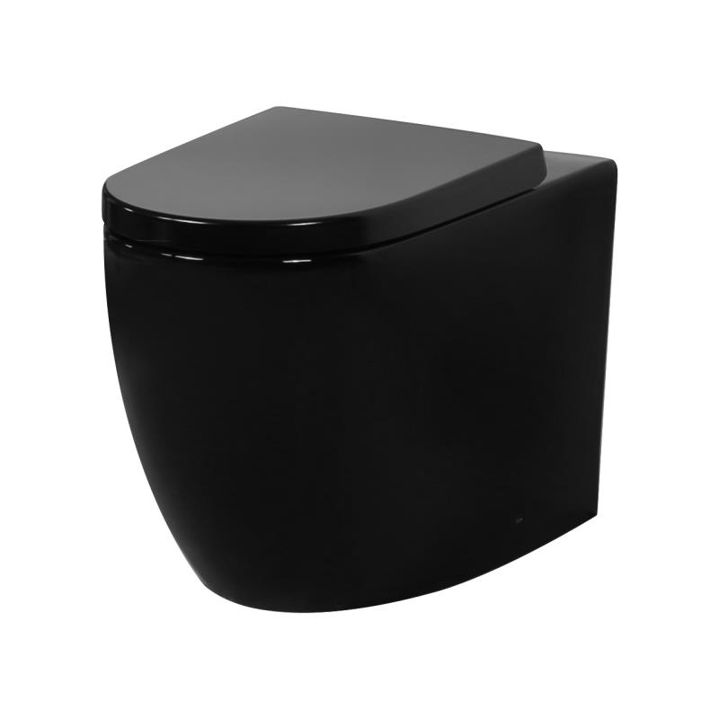 Veda Tornado Flush Wall Faced Pan - Black