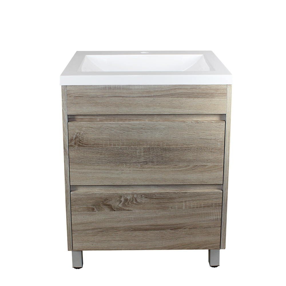 Paris 600 Vanity On Legs - White Oak