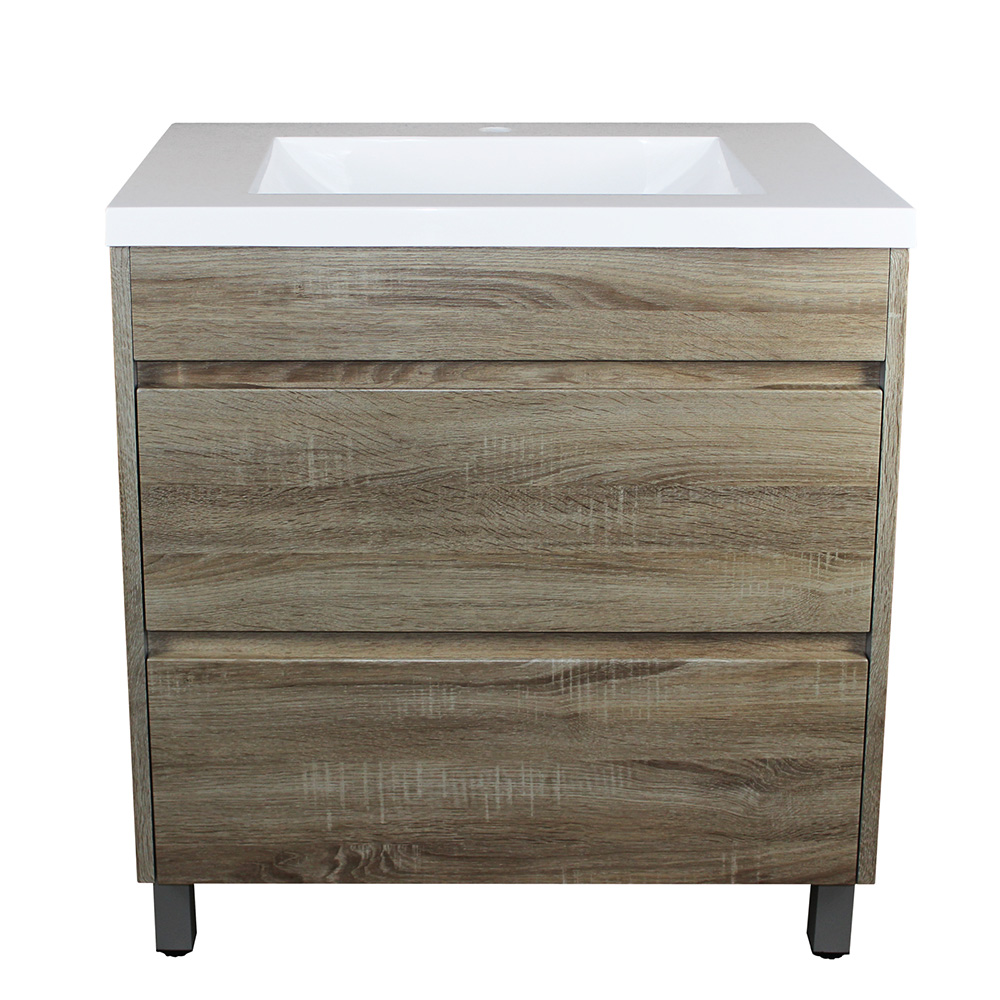 Paris 750 Vanity On Legs - White Oak