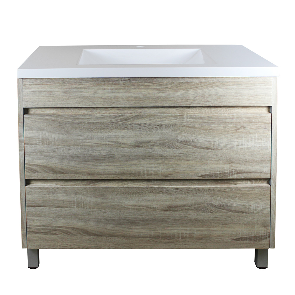 Paris 900 Vanity On Legs - White Oak