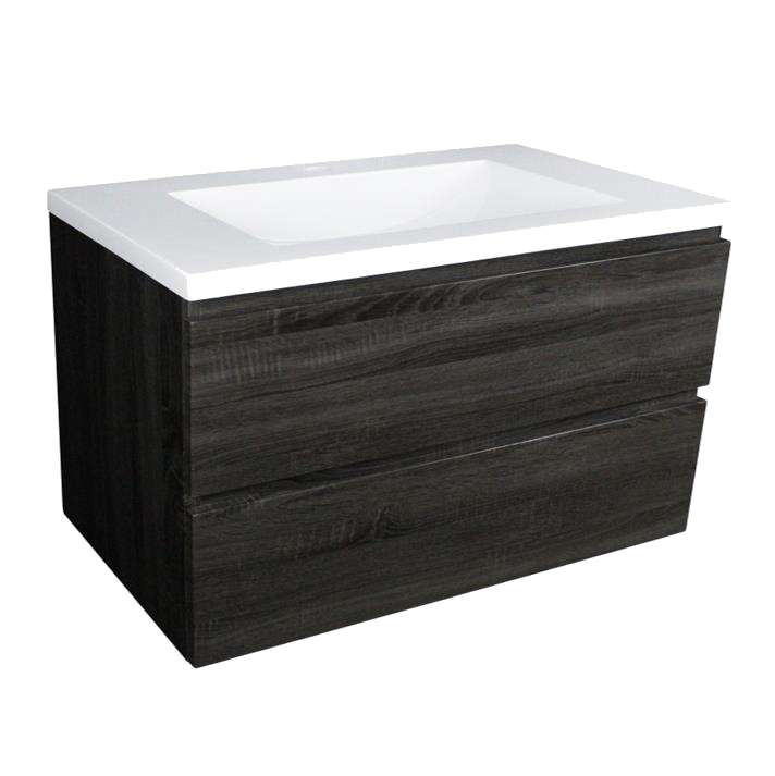 Paris 1200 Wall Hung Vanity - Dark Grey