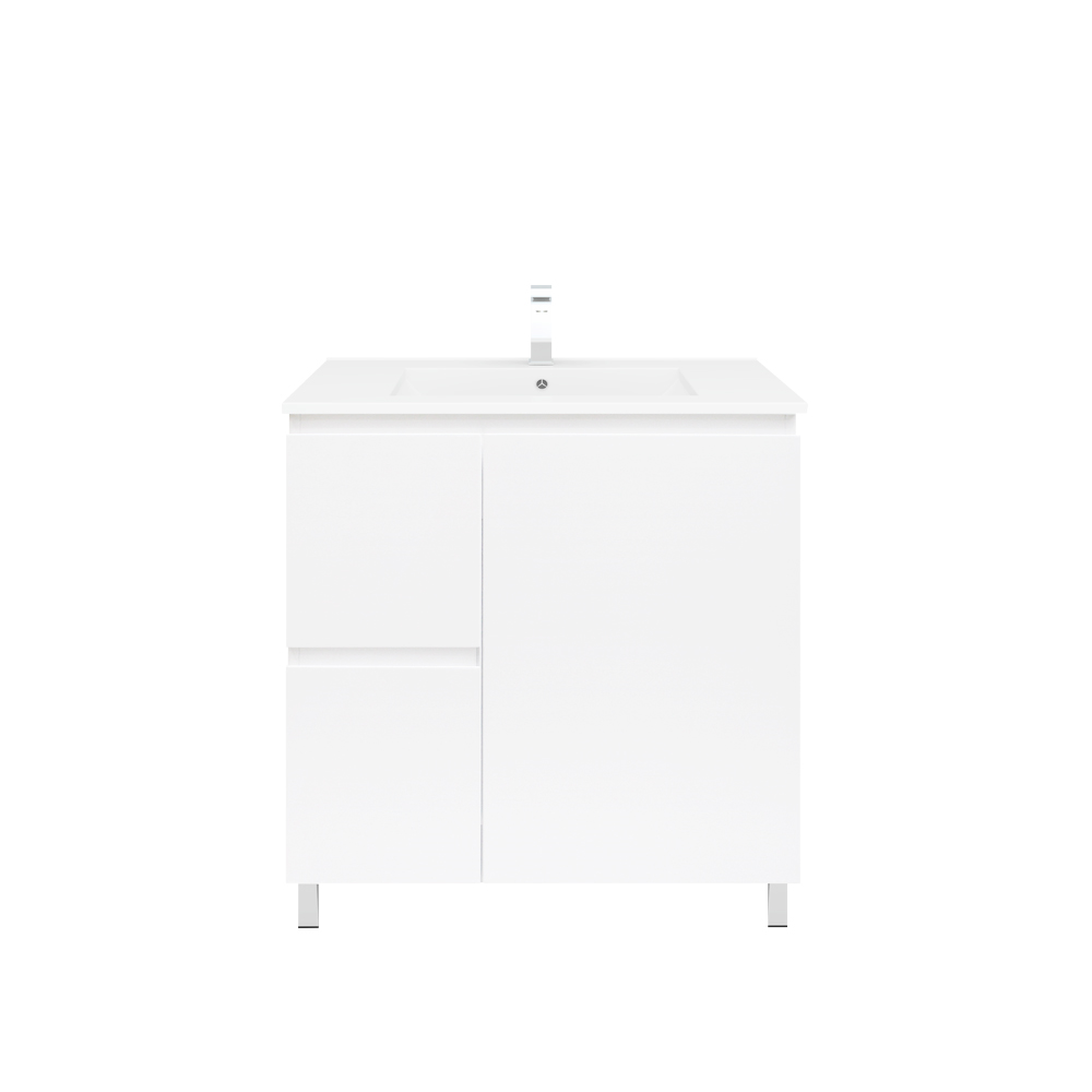 Polar 750mm Slim Vanity On Legs