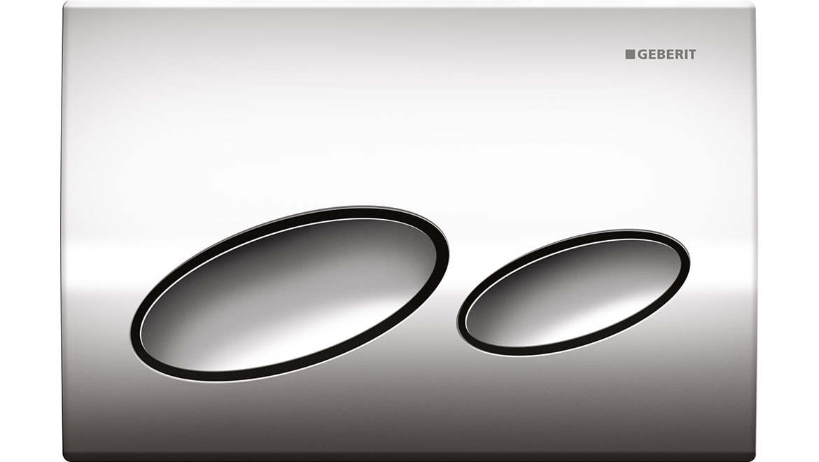 Kappa20 Dual Flush Plate-Chrome