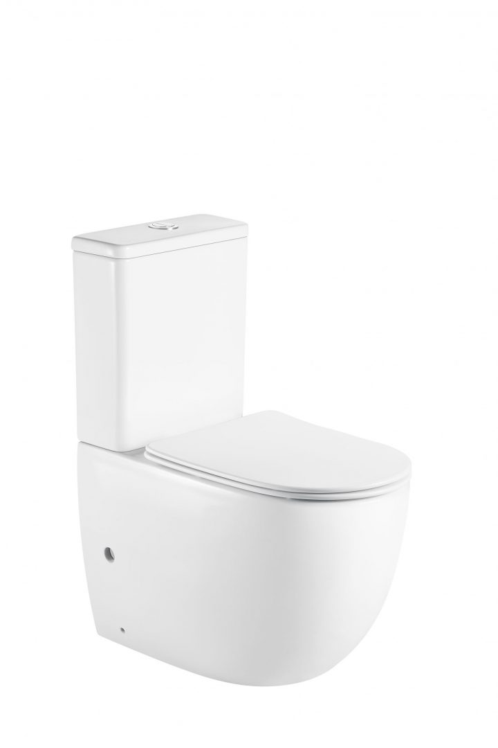 Cera Back To Wall Toilet Suite-Rimless