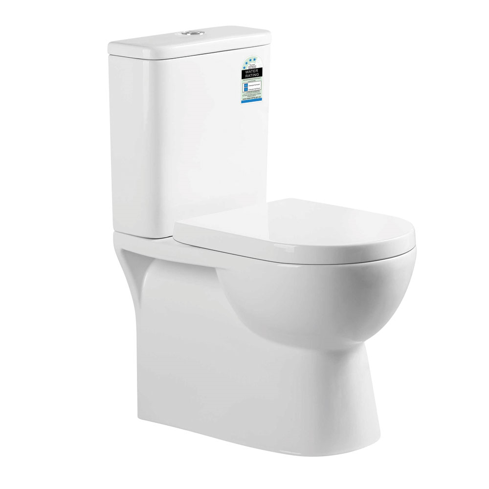 Curve Back To Wall Toilet Suite-Rimless