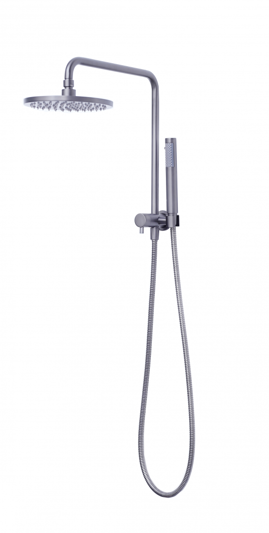 Star Half Rail Twin Shower Combo-Gun Metal