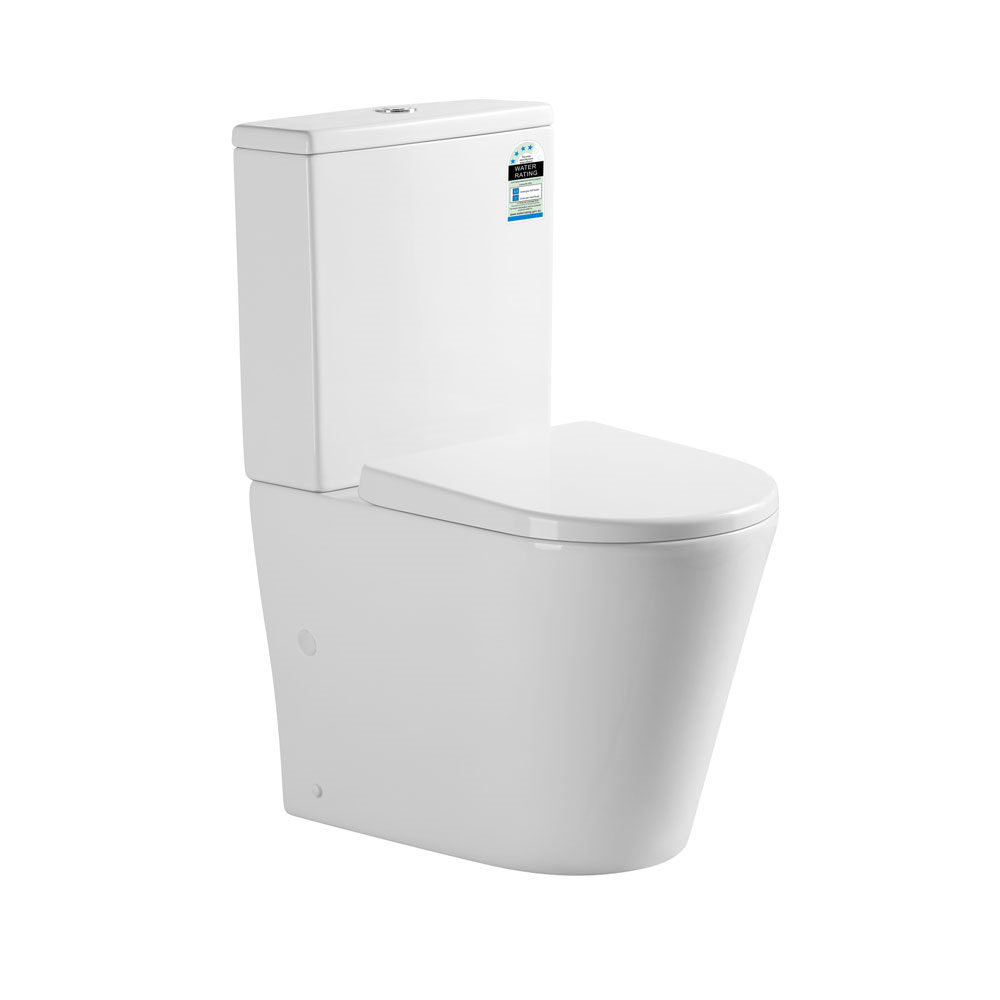 Clair Compact Back To Wall Toilet Suite-Rimless
