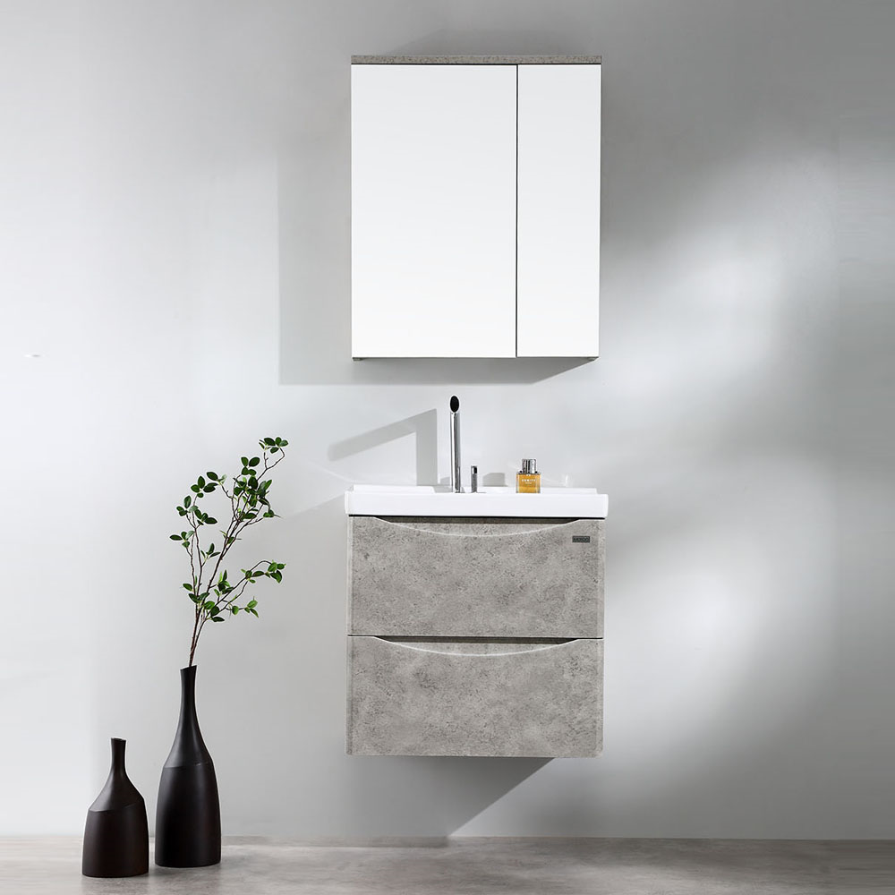 Luna 600mm Wall Hung Vanity- Rock Cemento