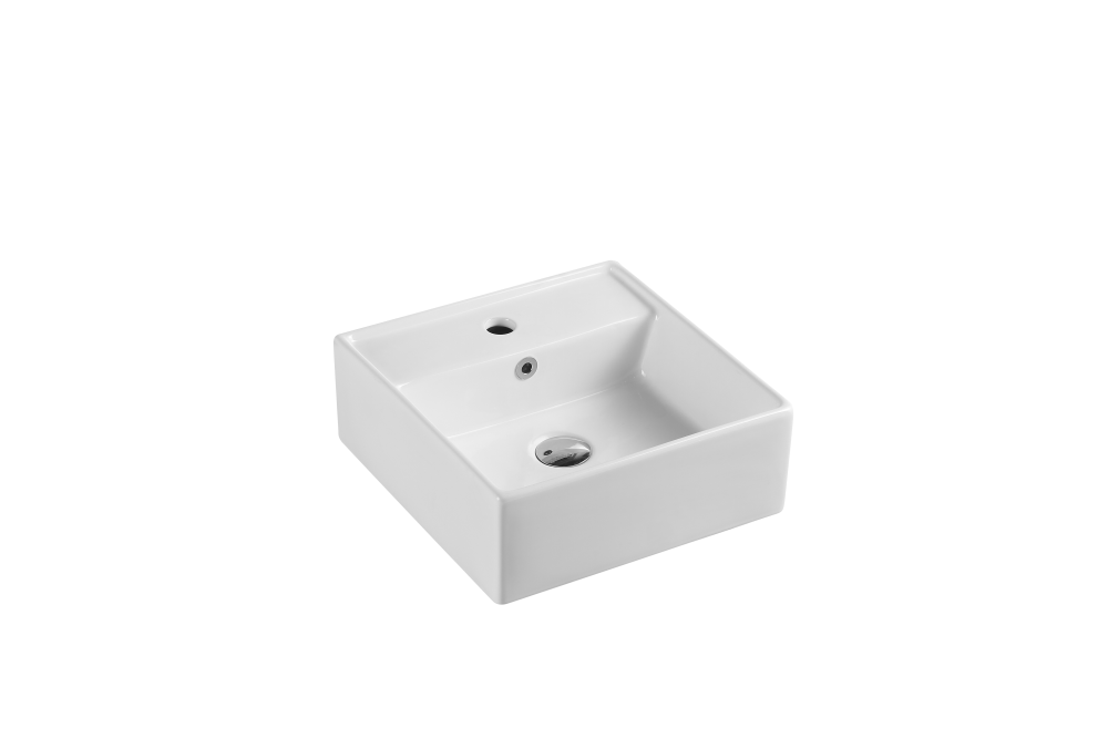 Vento Wall-Hung Square Basin with Tap Hole (410x410)