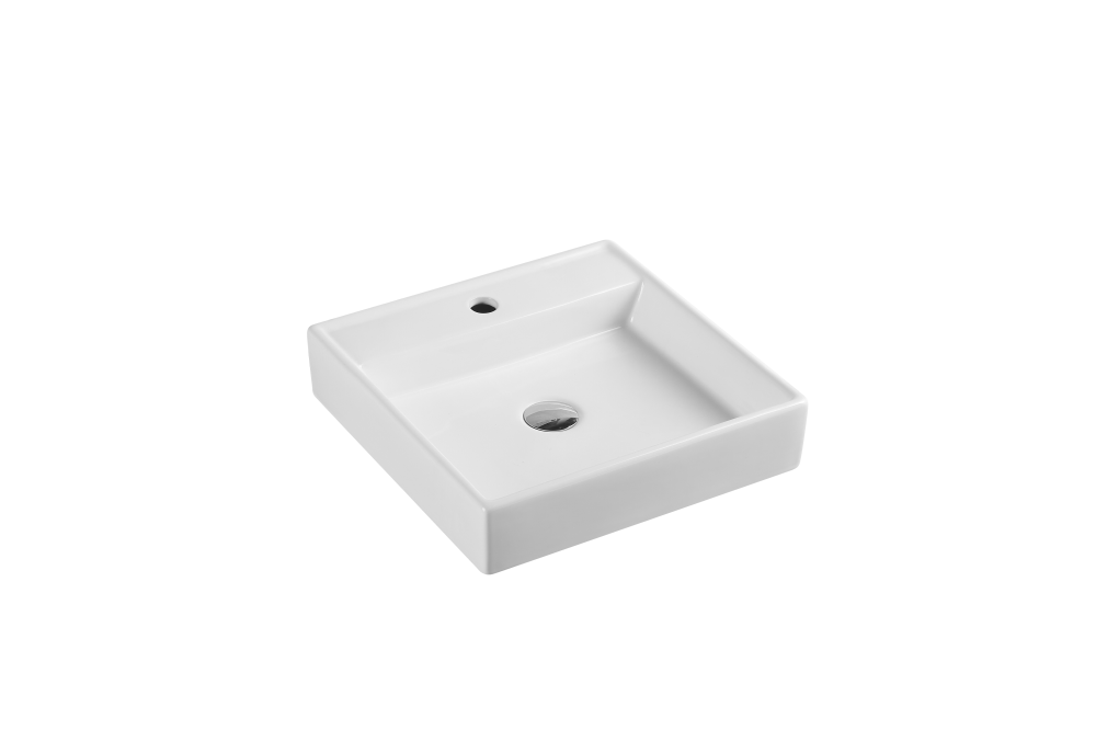 Vento Wall Hung Square Basin with Tap Hole (445x445)
