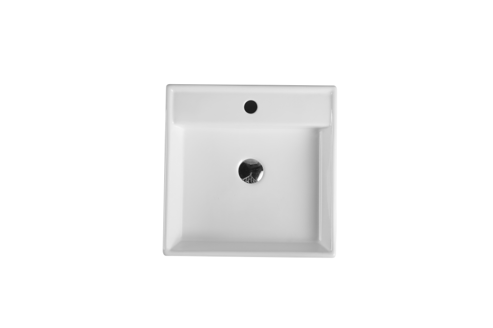 Vento Wall-Hung Square Basin with Tap Hole (420x420)