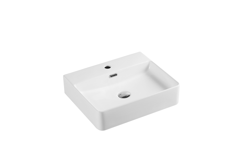 Vento Counter-Top Square Basin with Tap Hole (445x445)