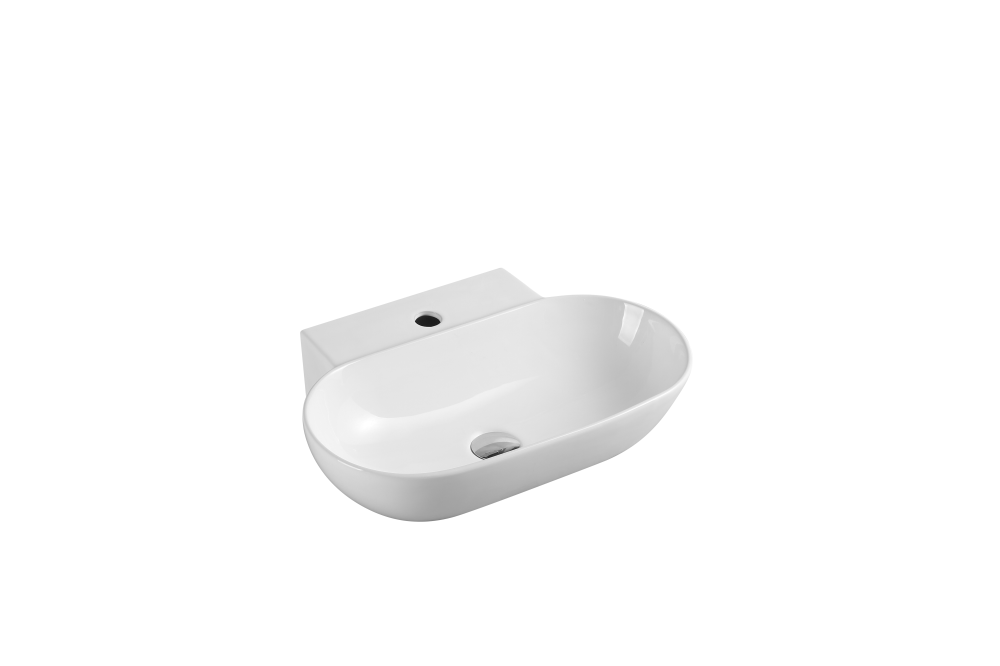 Vento Wall-Hung Oval Basin with Tap Hole (560x400)