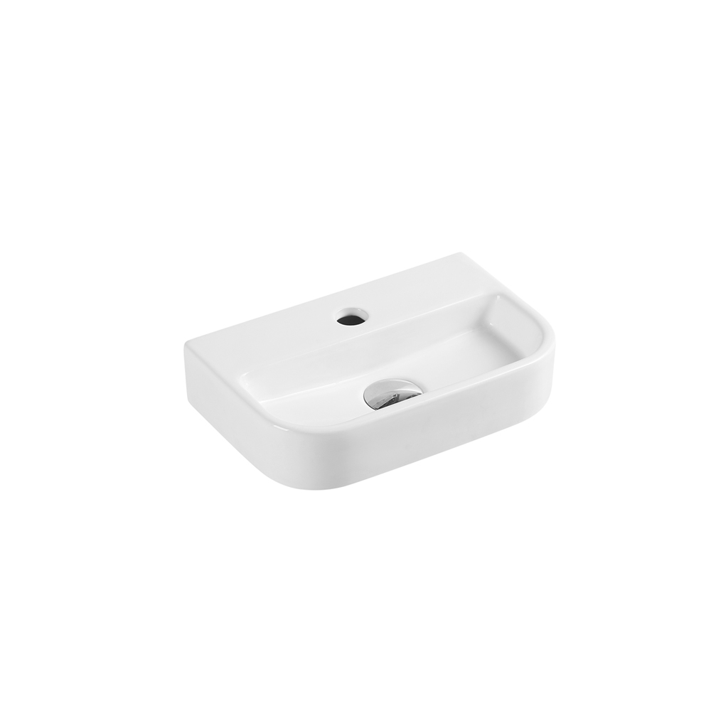 Mini Wall-Hung Rectangular Basin with Tap Hole (380x245)