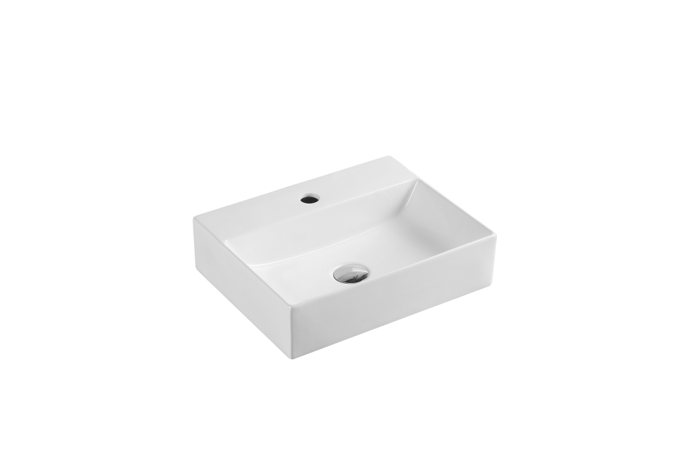 Kube Wall-Hung Rectangular Basin with Tap Hole (460x360)